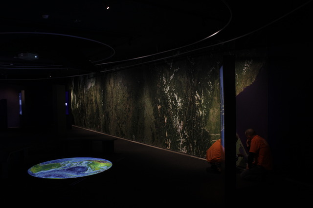 In the section about climate in the Ars Electronica Center. (Photo by Nina Horvath)