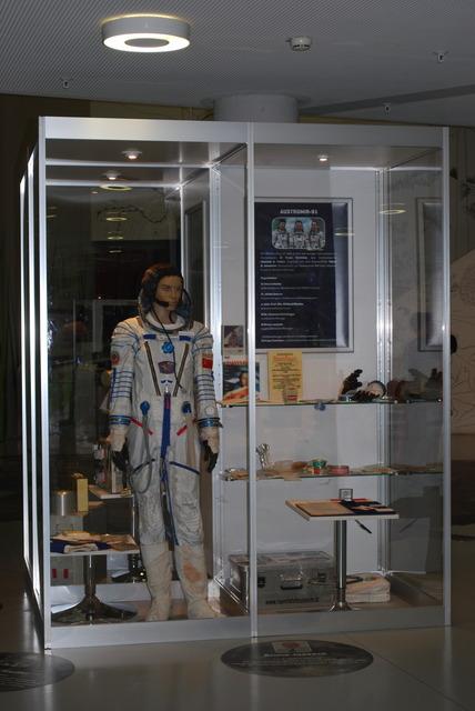 The spacesuit of the Austrian astronaut Franz Viehböck.